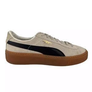 PUMA Suede Platform Core Sneakers Gray Black Sz 9